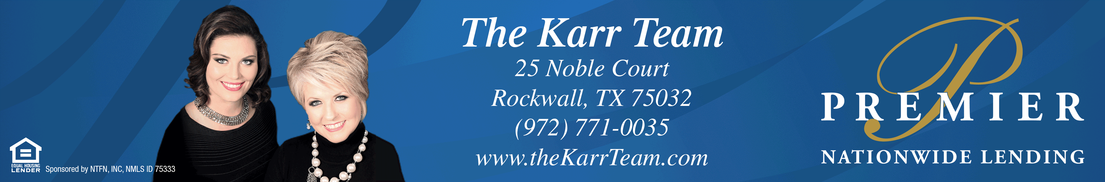 The Karr Team Premier Nationwide Lending Logo