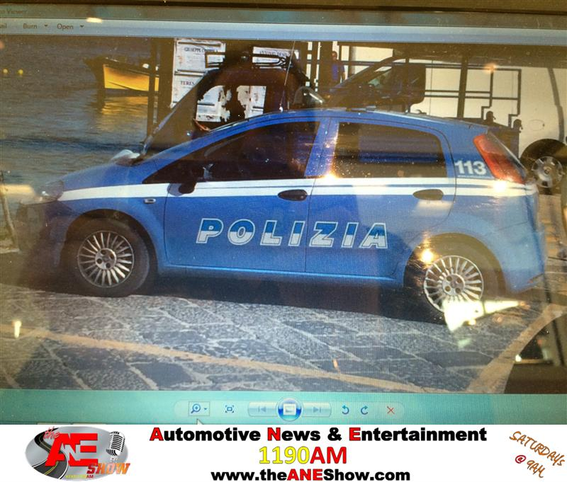 Review image from italian police car