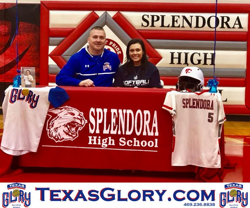 Review image from Splendora's Kerstyn McClain signs her University of Dallas NLI.