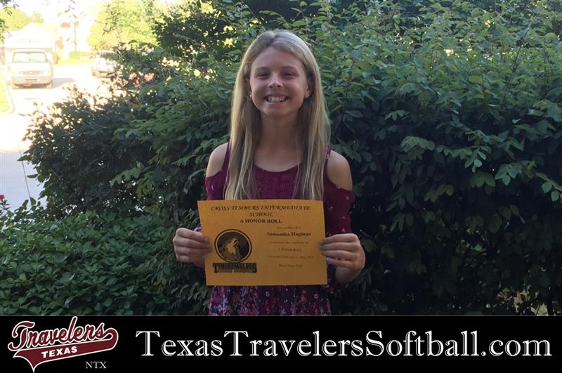 Review image from Sammy Hagman (2024) Texas Travelers NTX 14U Recieves A Honor Roll For 2017-2018.